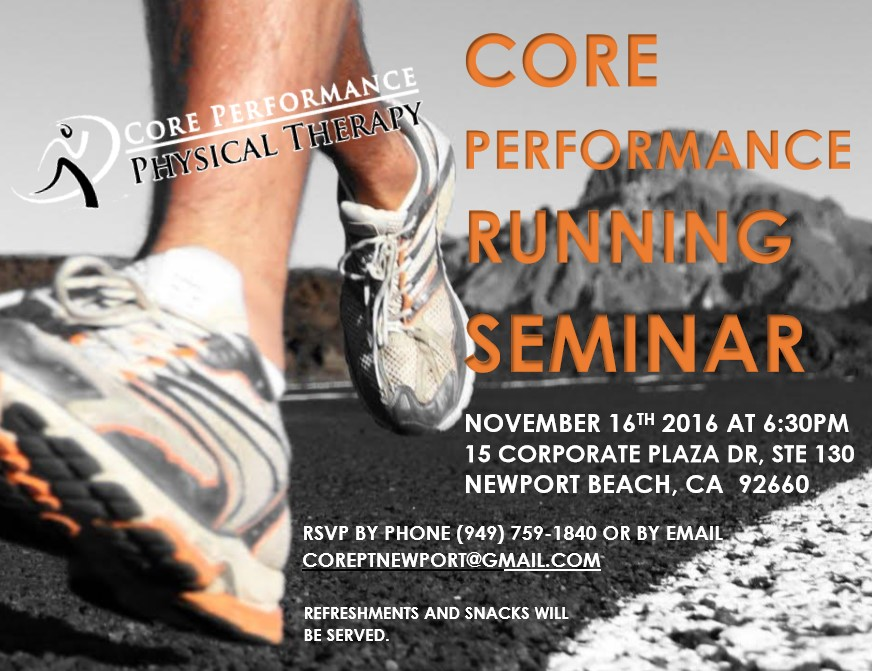 Core Performance Running Seminar